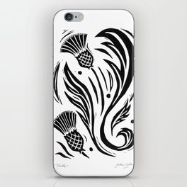 Thistle - Black and White iPhone Skin