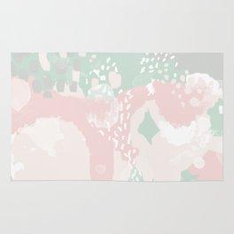 Alexei - abstract minimal modern painting splash dots stripes painterly art Rug