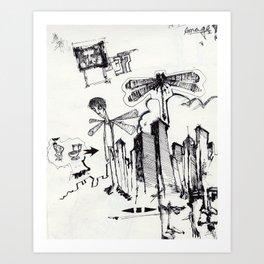EXIT SERIES 2 Art Print