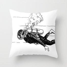 SCUBA Throw Pillow