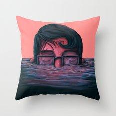 Underwater breath Throw Pillow