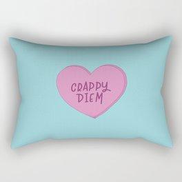Crappy diem. Rectangular Pillow