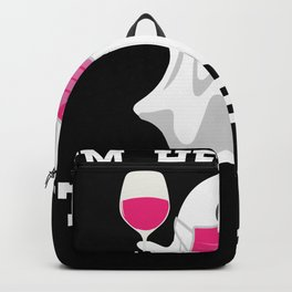 Just Here For The Boos Wine Backpack