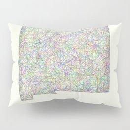 New Mexico map Pillow Sham