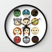 avenger Wall Clocks featuring Avenger Emojis :) by jozi.art