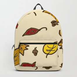 Autumn Leaves - Ivory Backpack