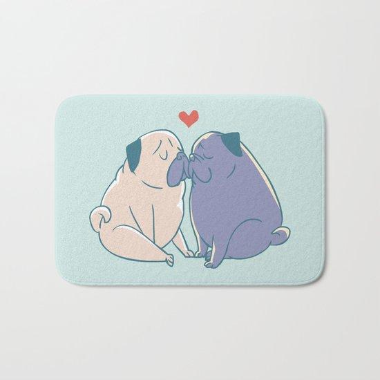 Pugs and Kisses Bath Mat