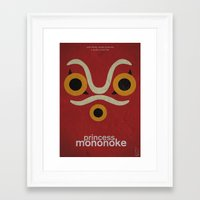 princess mononoke Framed Art Prints featuring Princess Mononoke  by Fabio Castro