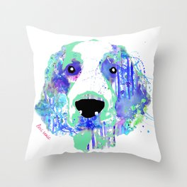 aurora the welshie Throw Pillow