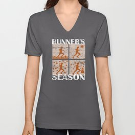 Runner's Season Running Jogging Lover Gift Unisex V-Neck