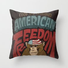 American Freedom Throw Pillow