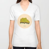 berlin V-neck T-shirts featuring Berlin by Chris Redford