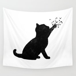 Poetic cat Wall Tapestry