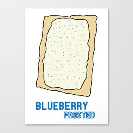 Blueberry Frosted Popped Art Canvas Print