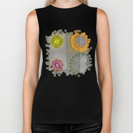 Quaternary Strategy Flowers  ID:16165-142241-78321 Biker Tank
