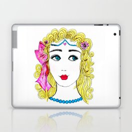 Girl with Blue Eyes Laptop & iPad Skin
