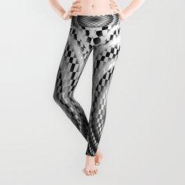 Black and white chessboard Leggings
