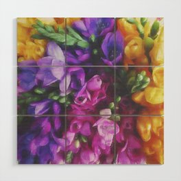 Freesias Wood Wall Art