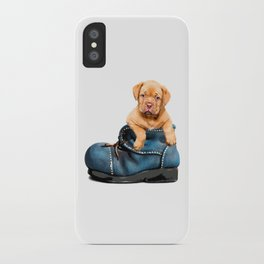 Pup In Boot iPhone Case