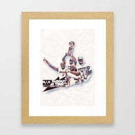Lebron//NBA Champion 2012 Framed Art Print