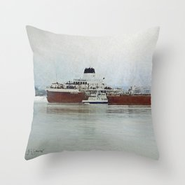 Roger Blough and Ojibway Throw Pillow