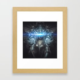 deity, woman suit made with reliefs and sculptures Framed Art Print
