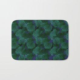 Monstera (Jungle) - Teal x Purple Bath Mat