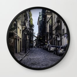 The empty streets of the new world Wall Clock
