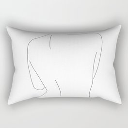 Nude back line drawing illustration - Drew Rectangular Pillow