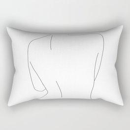 Nude back line drawing illustration - Drew Rectangular Pillow