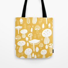 Forest Mushrooms Yellow Tote Bag
