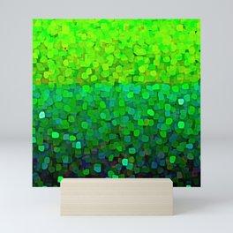 Glitter Sparkles Green Mini Art Print