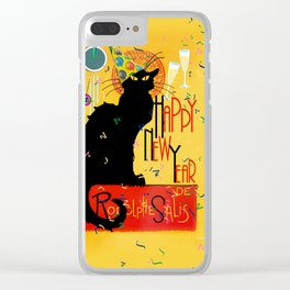 Chat Noir New Years Party Countdown Clear iPhone Case