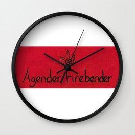Agender (fire) Wall Clock