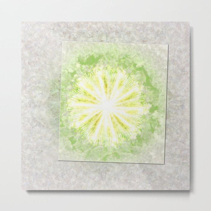 Triptychs Unveiled Flower  ID:16165-114729-45271 Metal Print