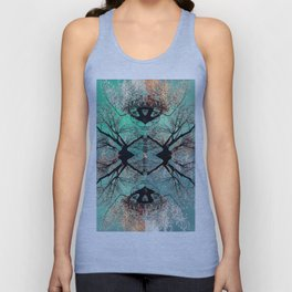 autumn tree-vessel pattern Unisex Tank Top