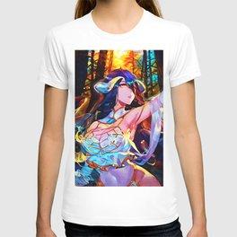 Colorful forest waifu T-shirt