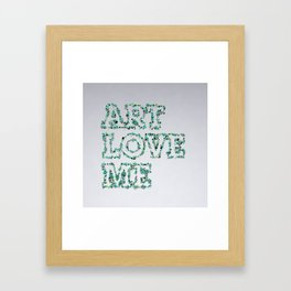 Art love me Framed Art Print