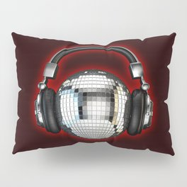 Headphone disco ball Pillow Sham