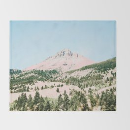 Happy Mountain #society6 #decor #buyart Throw Blanket