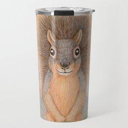 fox squirrel woodland animal portrait Travel Mug