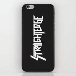 Straight Edge Metal Logo iPhone Skin