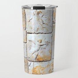 Roman stucco wall collage Travel Mug