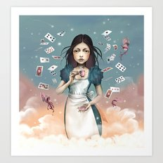 It's time for tea Alice Art Print