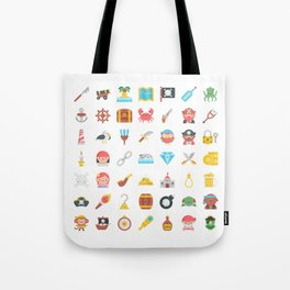 CUTE PIRATES PATTERN (PIRATE SHIP CHARACTERS) Tote Bag