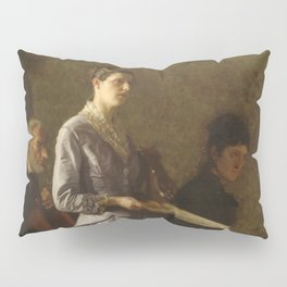 Singing a Pathetic Song Oil Painting by Thomas Eakins Pillow Sham