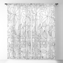 My Flower Design 12 Sheer Curtain