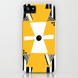 Squares and stripes iPhone Case