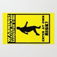 sasquatch Area & Throw Rugs featuring Staten Island Sasquatch by OverseerN