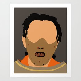 Hannibal Lecter The Silence of the Lambs 90s movie Art Print